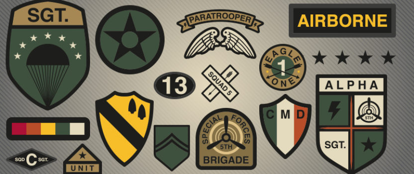 Army Badges and Patches Worn With Pride